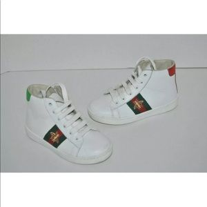 GUCCI New Ace High Top Bee Sneakers Kids Toddler 9